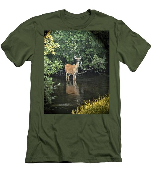 Sunset River Doe Men's T-Shirt (Athletic Fit)
