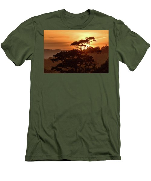Sunset Silhouette Men's T-Shirt (Slim Fit) by Keith Boone