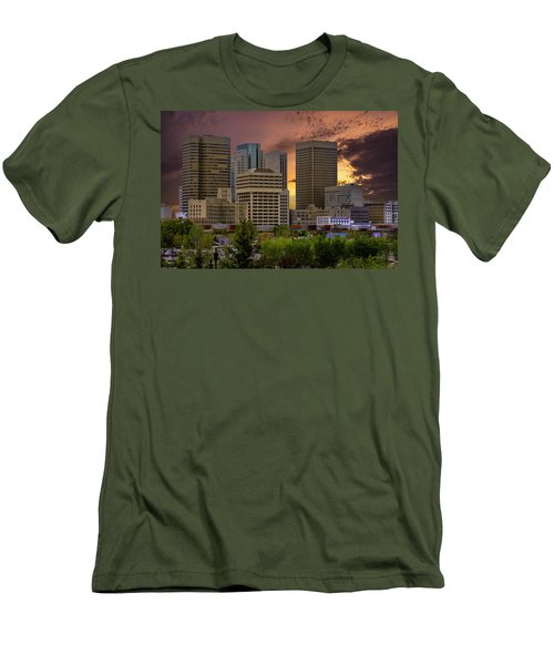 Sunset Skyline Men's T-Shirt (Athletic Fit)