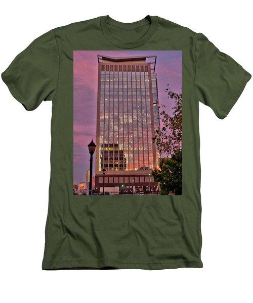 Sunset Skyscraper Men's T-Shirt (Athletic Fit)