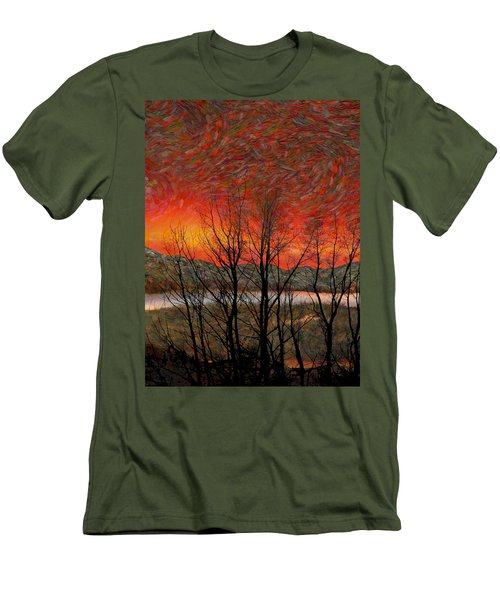 Sunset Soliloquy Men's T-Shirt (Slim Fit) by Ed Hall