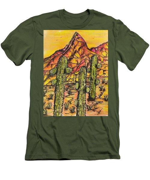 Desert Sunset Sunrise  Men's T-Shirt (Athletic Fit)