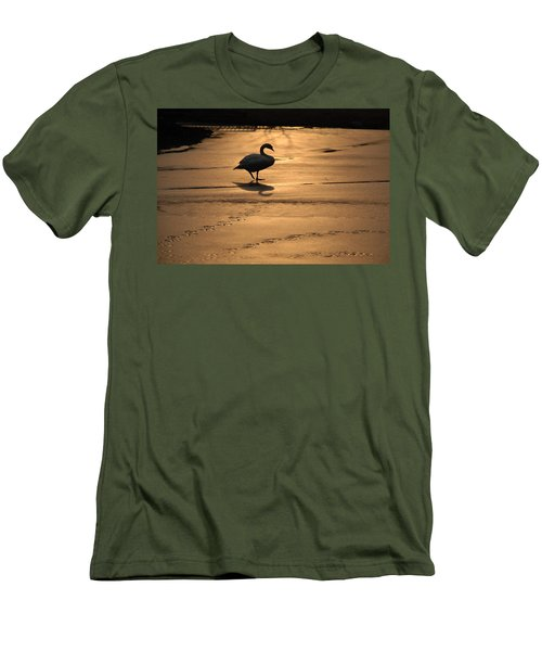 Men's T-Shirt (Slim Fit) featuring the photograph Sunset Swan by Richard Bryce and Family