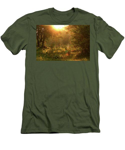 Men's T-Shirt (Slim Fit) featuring the photograph Sunshine In The Meadow by Emanuel Tanjala