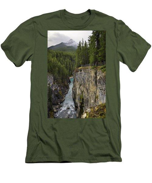 Sunwapta Falls Canyon Men's T-Shirt (Athletic Fit)