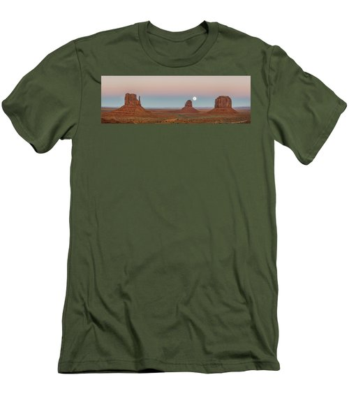 Super Moon In Monument Valley Men's T-Shirt (Athletic Fit)