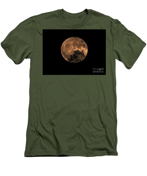 Supermoon Rising Men's T-Shirt (Slim Fit) by Alana Ranney