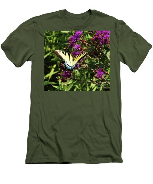 Swallowtail On Butterfly Weed Men's T-Shirt (Slim Fit) by J L Zarek