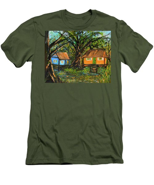 Swamp Cabins Men's T-Shirt (Slim Fit) by Christy Usilton