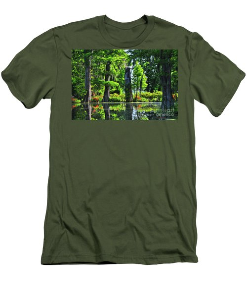 Swamp In Bloom Signed Men's T-Shirt (Athletic Fit)