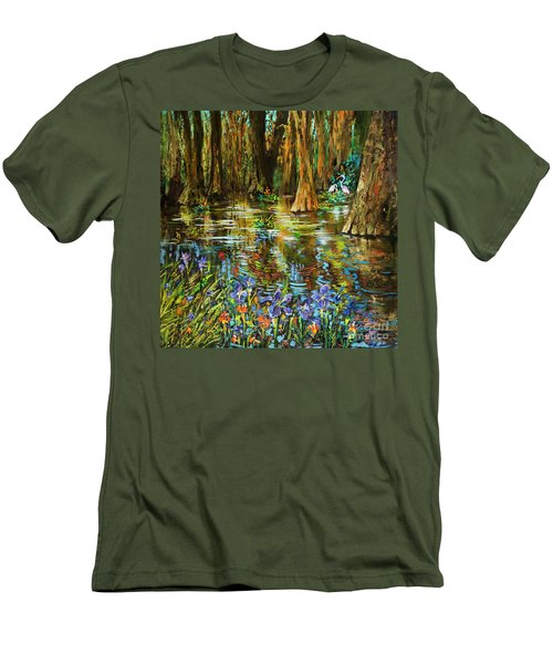 Swamp Iris Men's T-Shirt (Athletic Fit)