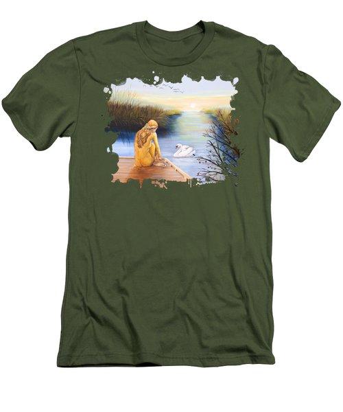 Swan Bride T-shirt Men's T-Shirt (Athletic Fit)