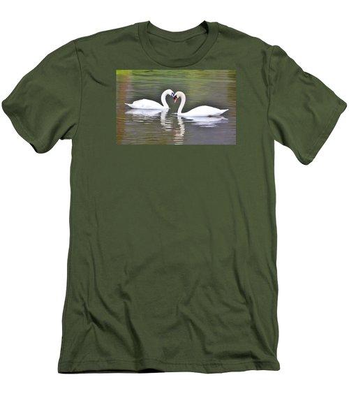 Swan Love Men's T-Shirt (Slim Fit) by Diane Alexander