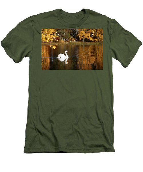 Swan On A Lake Men's T-Shirt (Athletic Fit)