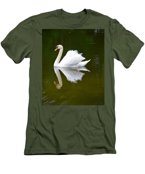 Swan Reflecting Men's T-Shirt (Slim Fit) by Richard Bryce and Family