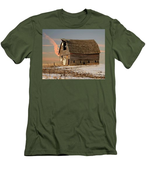 Swayback Barn Men's T-Shirt (Slim Fit) by Kathy M Krause