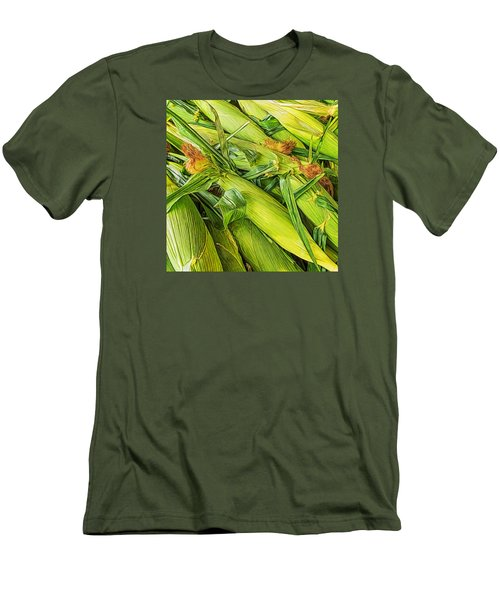 Men's T-Shirt (Slim Fit) featuring the photograph Sweet Corn by Lewis Mann