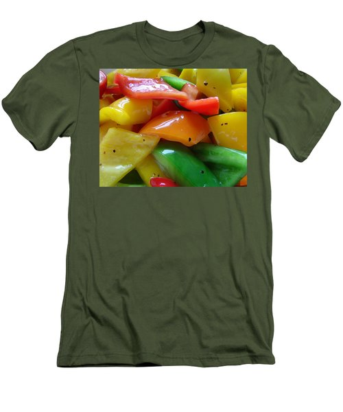 Sweet Peppers Men's T-Shirt (Slim Fit) by Jana Russon