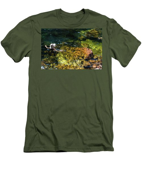 swimming in the Buley Rockhole waterfalls Men's T-Shirt (Athletic Fit)