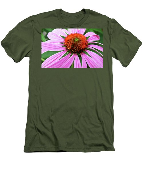 Swirling Purple Cone Flower 3576 H_2 Men's T-Shirt (Athletic Fit)