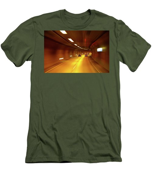 Men's T-Shirt (Slim Fit) featuring the photograph Swiss Alpine Tunnel by KG Thienemann