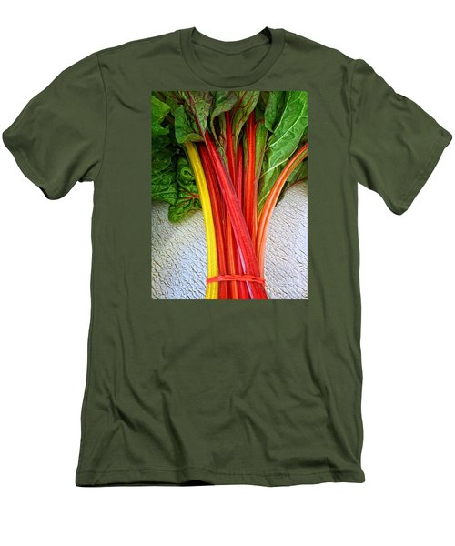 Swiss Chard Men's T-Shirt (Slim Fit) by Dee Flouton