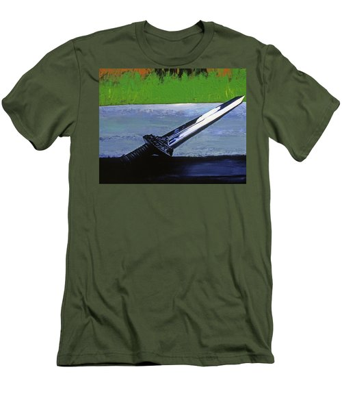 Sword Of Protection  Men's T-Shirt (Athletic Fit)