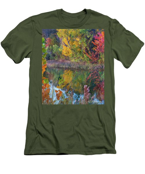 Sycamores And Willows Men's T-Shirt (Slim Fit) by Tim Fitzharris
