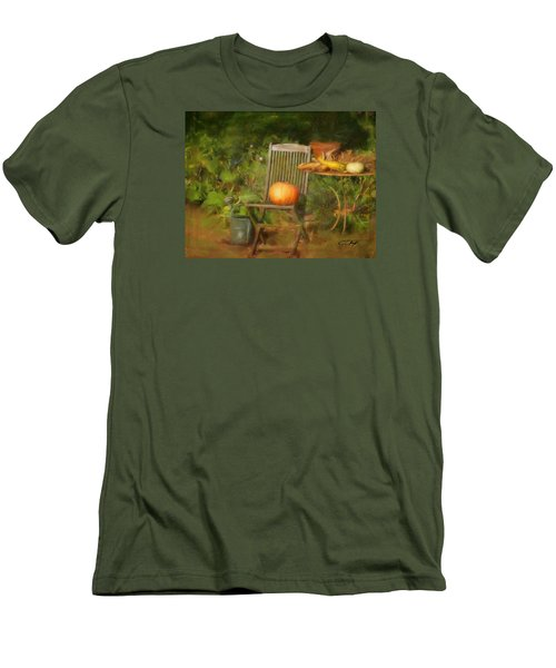 Table For One Men's T-Shirt (Slim Fit) by Colleen Taylor