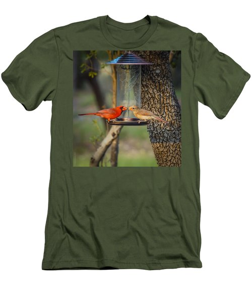 Men's T-Shirt (Slim Fit) featuring the photograph Table For Two by Debbie Karnes