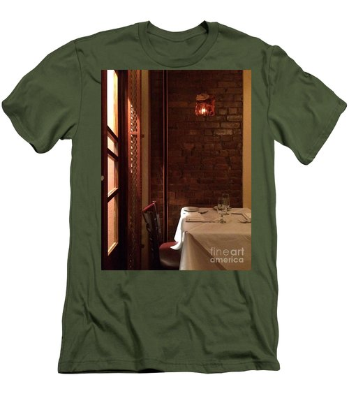 Table For Two Men's T-Shirt (Athletic Fit)