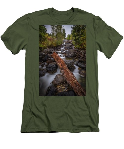 Taggert Creek Waterfall Log Men's T-Shirt (Athletic Fit)