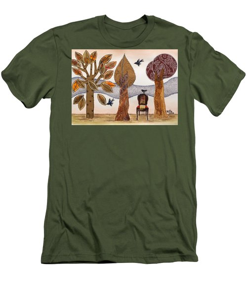Take A Rest In Autumn Men's T-Shirt (Athletic Fit)