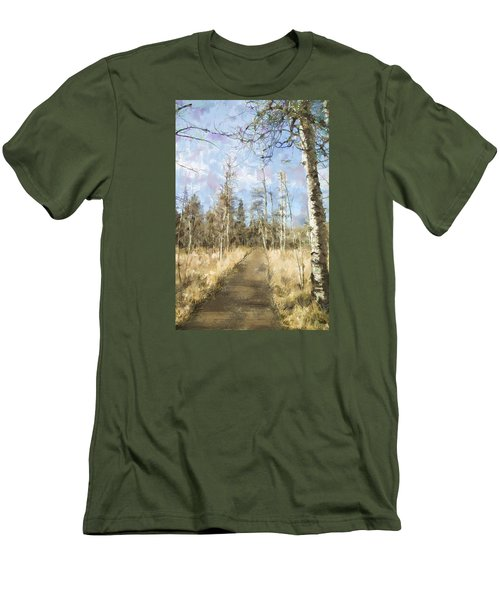 Men's T-Shirt (Slim Fit) featuring the painting Take A Walk by Annette Berglund