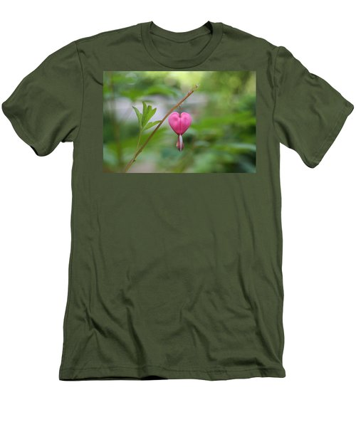 Men's T-Shirt (Slim Fit) featuring the digital art Take My Heart by Barbara S Nickerson