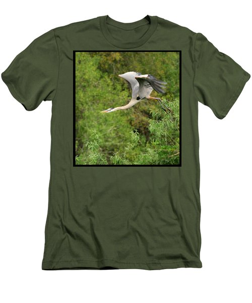 Men's T-Shirt (Slim Fit) featuring the photograph Take Off by Shari Jardina