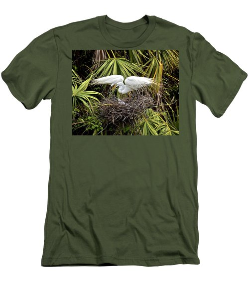 Taking Care Of Two Fuzzy Headed Babies Men's T-Shirt (Athletic Fit)