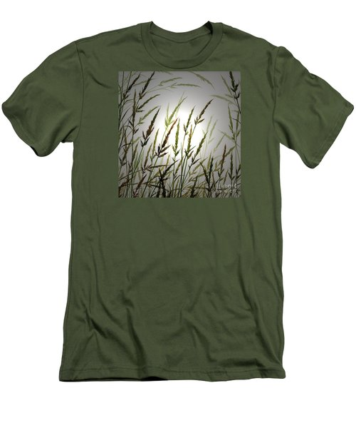 Men's T-Shirt (Slim Fit) featuring the digital art Tall Grass And Sunlight by James Williamson