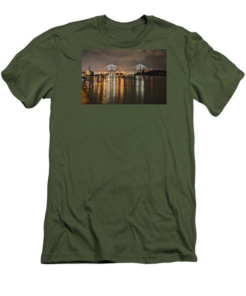 Talmadge Memorial Bridge Men's T-Shirt (Athletic Fit)