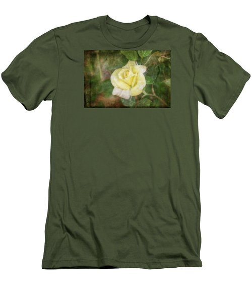 Men's T-Shirt (Slim Fit) featuring the photograph Tapestry Rose by Joan Bertucci