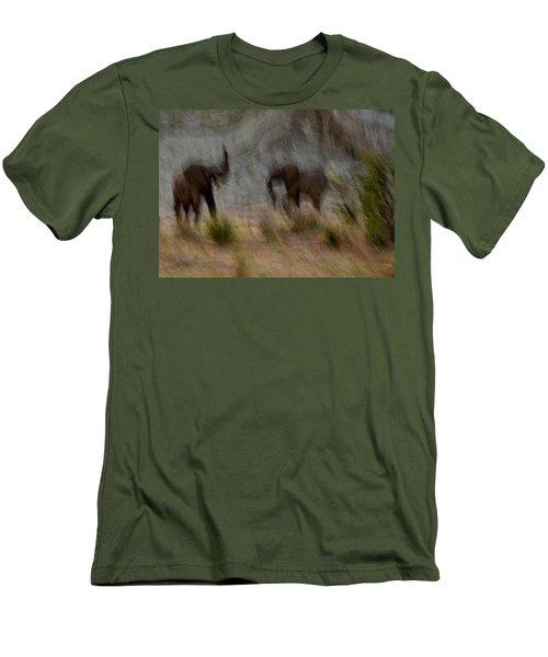 Tarangire Elephants 1 Men's T-Shirt (Athletic Fit)