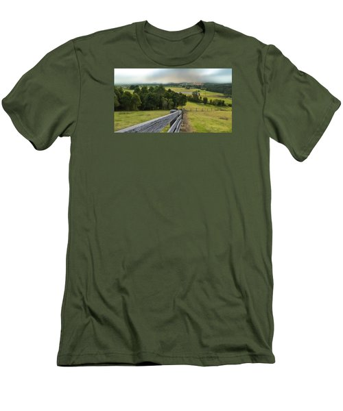 Men's T-Shirt (Slim Fit) featuring the photograph Taree West 01 by Kevin Chippindall