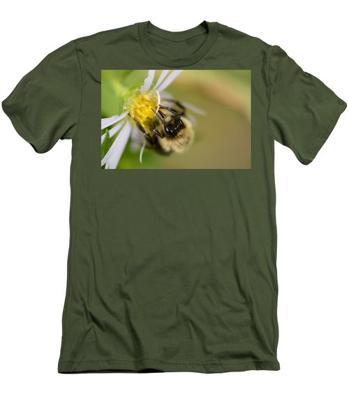 Tasting The Flower Men's T-Shirt (Slim Fit) by Janet Rockburn