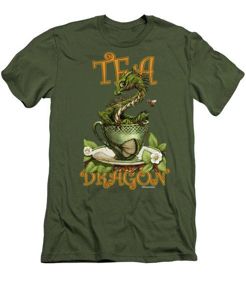 Tea Dragon Men's T-Shirt (Athletic Fit)
