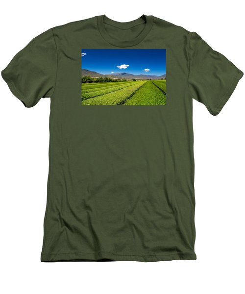 Tea In The Valley Men's T-Shirt (Slim Fit) by Mark Lucey