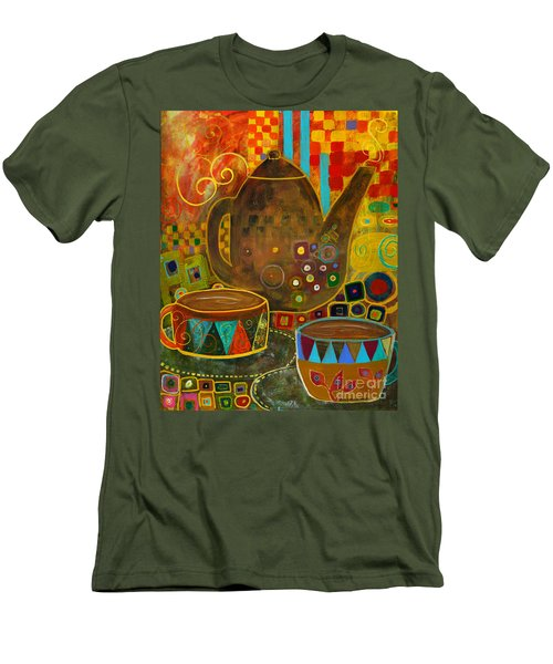Tea Party With Klimt Men's T-Shirt (Slim Fit) by Robin Maria Pedrero
