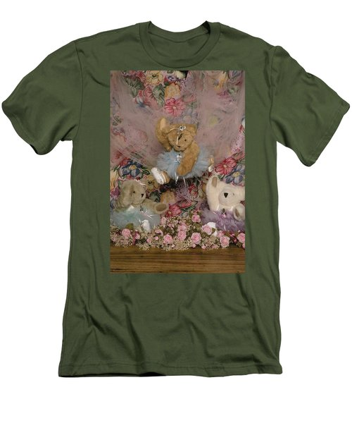 Teddy Bear Dancers Men's T-Shirt (Athletic Fit)