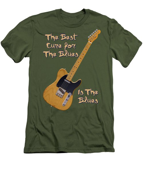 Tele Blues Cure Men's T-Shirt (Slim Fit) by WB Johnston