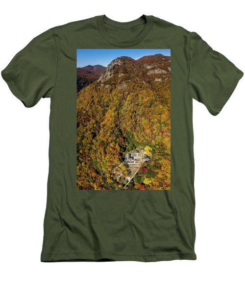 Temple In The Valley 2 Men's T-Shirt (Athletic Fit)