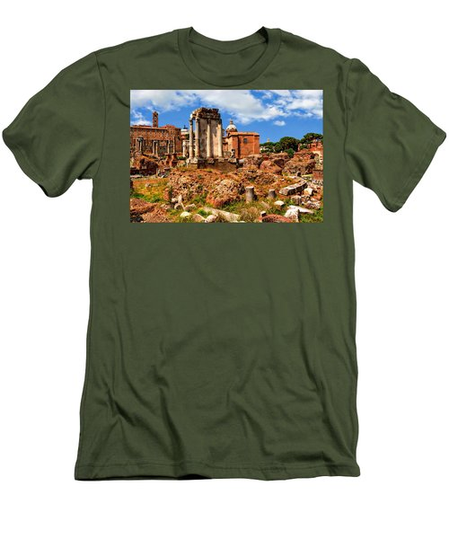 Temple Of Vesta Men's T-Shirt (Slim Fit) by Anthony Dezenzio